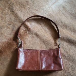 Giani Bernini brown leather mini bag purse
